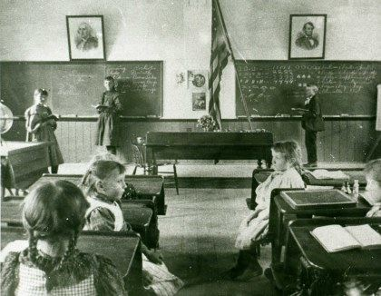 Churchville Schoolhouse interior c.1895, EHM collection
